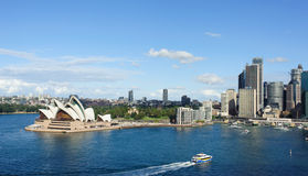 View of Sydney and the Harbor. SYDNEY - MAY 11: View of Sydney and the Harbor on May 11, 2014 in Sydney, Australia. Over 10 millions tourists visit Sydney every Royalty Free Stock Images