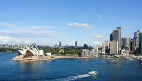 View of Sydney and the Harbor. SYDNEY - MAY 11: View of Sydney and the Harbor on May 11, 2014 in Sydney, Australia. Over 10 millions tourists visit Sydney every Royalty Free Stock Photos