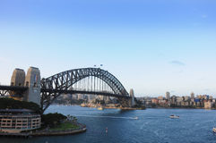 View of Sydney Harbour Bridge. Taken from P and O Aurora, on a world cruise Royalty Free Stock Photography