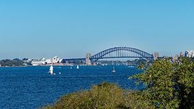 Sydney Harbour Bridge and Opera House, Australia Royalty Free Stock Photo
