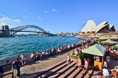 View of Sydney Opera House and Circular Quay Royalty Free Stock Photos