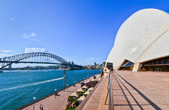 View of Sydney Opera House and Harbor Bridge Royalty Free Stock Image