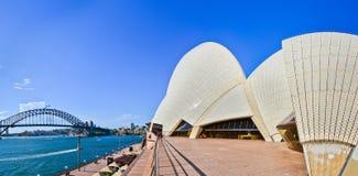 View of Sydney Opera House and Harbor Bridge Stock Photo