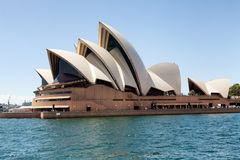 View of the Sydney Opera House. Sydney, New South Wales, Australia, September 13, 2013: View of the Sydney Opera House as seen from the water of Sydney Harbour royalty free stock image