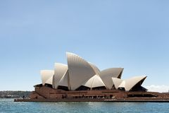 View of the Sydney Opera House. Sydney, New South Wales, Australia, September 13, 2013: View of the Sydney Opera House as seen from the water of Sydney Harbour stock photos