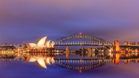 View of sydney opera houses from Botanic garden. Stock Photos