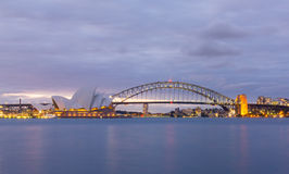 View of sydney opera houses from Botanic garden. Stock Image