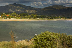 View of Sykia Beach, Chalkidiki,  Sithonia, Central Macedonia Royalty Free Stock Image