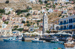 View of a Symi island, Dodecanese,Greece Stock Photo