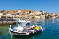 View of a Symi island, Dodecanese,Greece Stock Photography