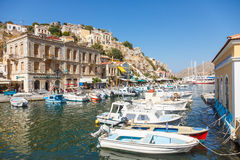 View of a Symi island, Dodecanese,Greece Stock Image
