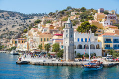 View of a Symi island, Dodecanese,Greece Royalty Free Stock Images