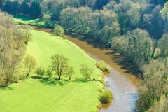 View from Symonds Yat over the Yat Gorge Stock Image