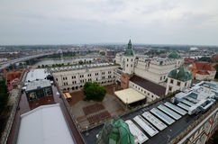 View of the Szczecin in Poland. Rainy day Stock Photos
