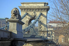 View on Szechenyi Chain Bridge and Buda Stock Photos