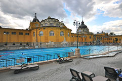 View of the Szechenyi Medicinal thermal Bath in Budapest Royalty Free Stock Photo