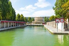 Saint-Martin canal in Paris Stock Image