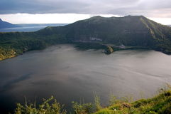 A view of the Taal volcano crator at Tagaytay in The Philippines. Stock Photos