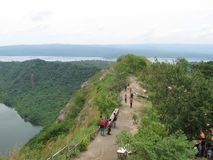 A view from the Taal volcano mountain, Philippines royalty free stock image
