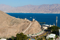 View of the Taba border crossing on the Egyptian-Israeli border. Stock Photography