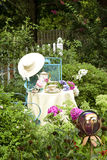 View of Table in Garden Royalty Free Stock Image