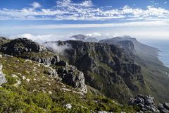 View from Table mountain. Cape town Royalty Free Stock Photos