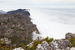 View from table mountain Cape town Royalty Free Stock Photo
