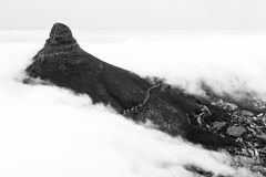 View from table mountain on Cape town Stock Photos