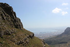 View from Table Mountain National Park, cape town south africa travel Stock Images