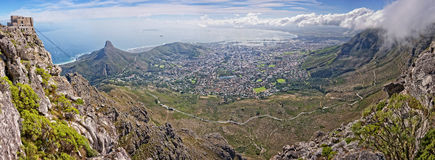 View from Table Mountain, South Africa Stock Image