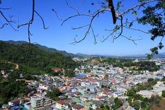 View of Tachileik city Royalty Free Stock Photos