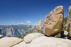 View from Taft point, Yosemite Royalty Free Stock Photos