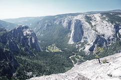 View from Taft point, Yosemite. National park, California, USA Stock Photos