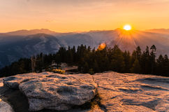 View from Taft Point. Yosemite National Park. One of the most famous National parks in California USA Royalty Free Stock Photography