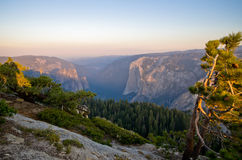 View from Taft Point. Yosemite National Park. One of the most famous National parks in California USA Royalty Free Stock Photo