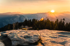 View from Taft Point. Yosemite National Park. One of the most famous National parks in California USA Stock Photography