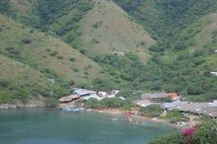 Taganga village, santa marta, colombia royalty free stock images