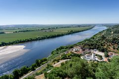 View of Tagus river from Portas do Sol garden in Santarem, Ribat royalty free stock images