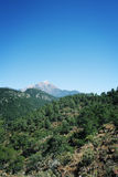 View on Tahtali Dagi mountain. Lycian Way. Aged. Stock Images