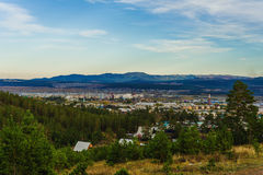 View of taiga in autumn time Stock Photos