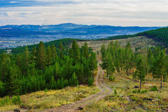 View of taiga near the Ulan-Ude city Stock Photo
