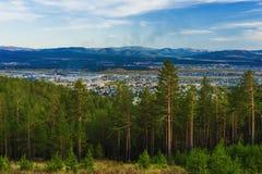 View of taiga near the Ulan-Ude city Stock Image