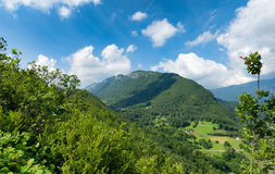 View of the Taillefer mountain in Haute Savoie, France Royalty Free Stock Image