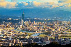 The view of Taipei city, Taiwan. For adv or others purpose use Royalty Free Stock Photo