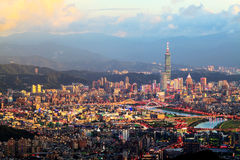 The view of Taipei city, Taiwan. For adv or others purpose use Royalty Free Stock Image