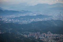 View of Taipei city in Taiwan. Aerial view of Taipei city in Taiwan Royalty Free Stock Photo