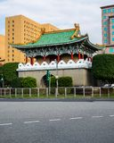 View of Taipei East Gate former part of the walls of Taipeh in Taiwan stock photography