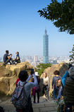 View of Taipei 101 from the Elephant Mt. Stock Photo