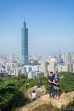 View of Taipei 101 from the Elephant Mt. Royalty Free Stock Images