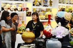 View of Taiwan commodities fair. China at Taiwan commodities fair Tianjin China royalty free stock photo